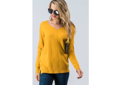 Lux Pullover Sweater in Mustard