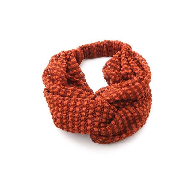 Ribbed Mesh Turban Headband