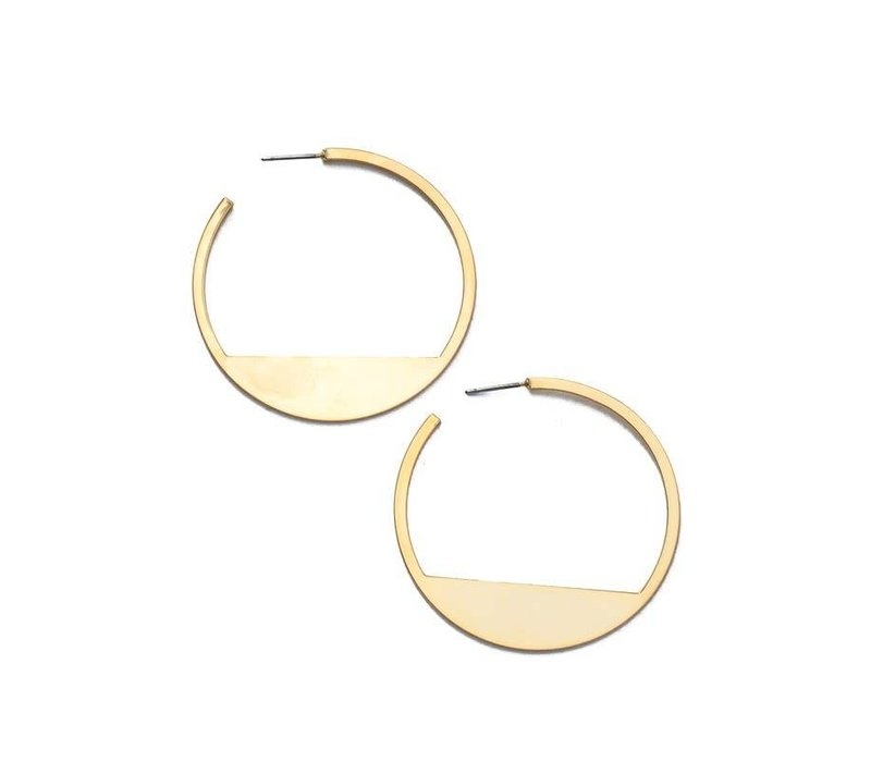 Flat Base Hoop Earrings (Available in Silver + Gold)