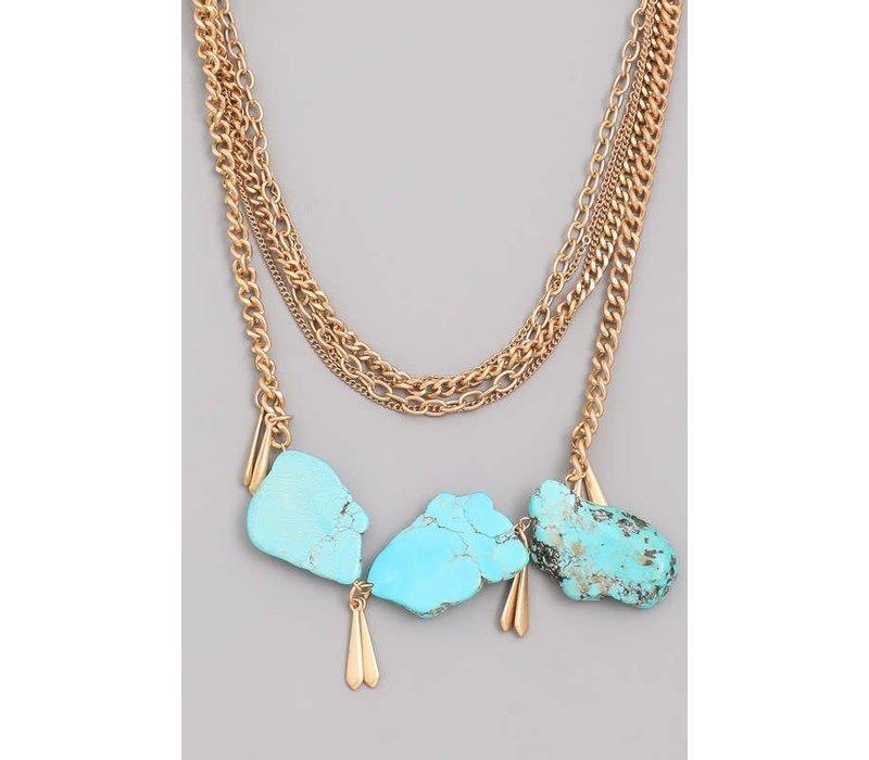 Turquoise Gemstone Statement Necklace