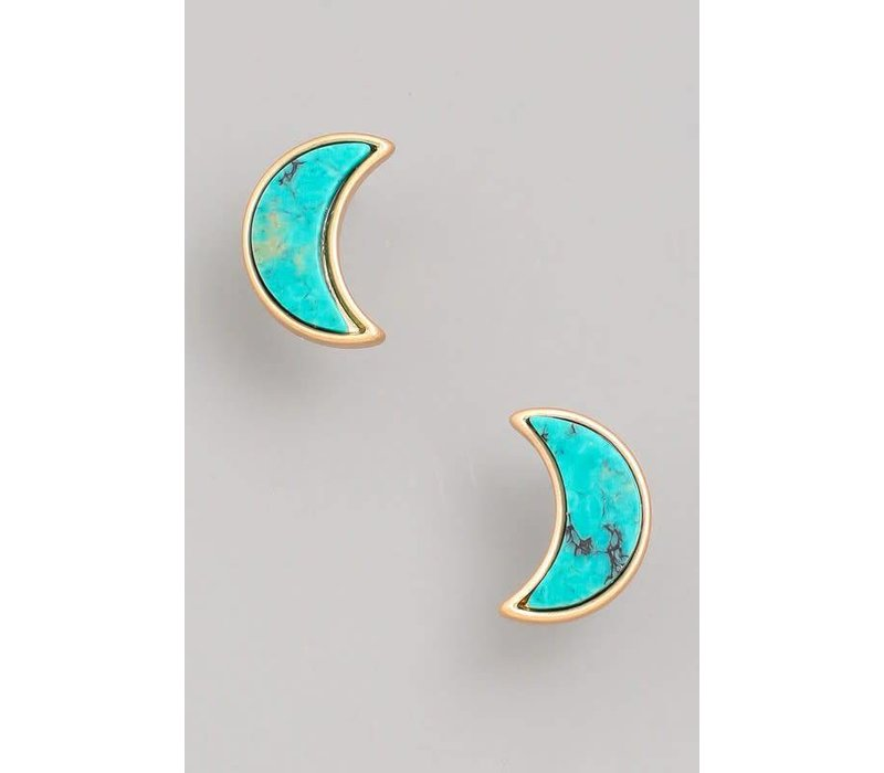 Crescent Stone Earrings (3 Colors)