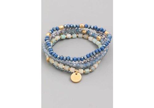Sea Blue Bracelet Stack