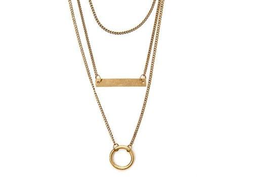Boho Tiered Geo Bar Necklace