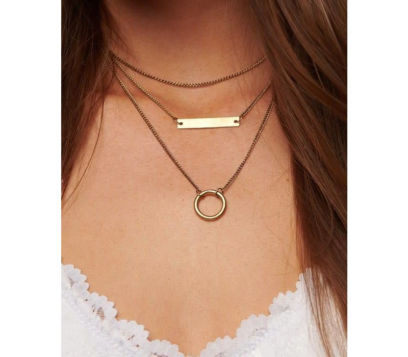 Boho Tiered Geo Bar Necklace