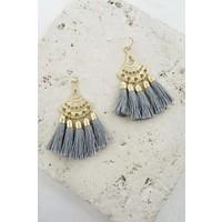 Boho Fan Tassel Earrings (3 Colors)