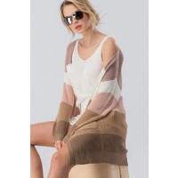 Neapolitan Colorblock Sweater Cardi
