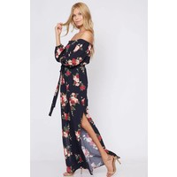 Bohemian Collect Off Shoulder Floral Maxi