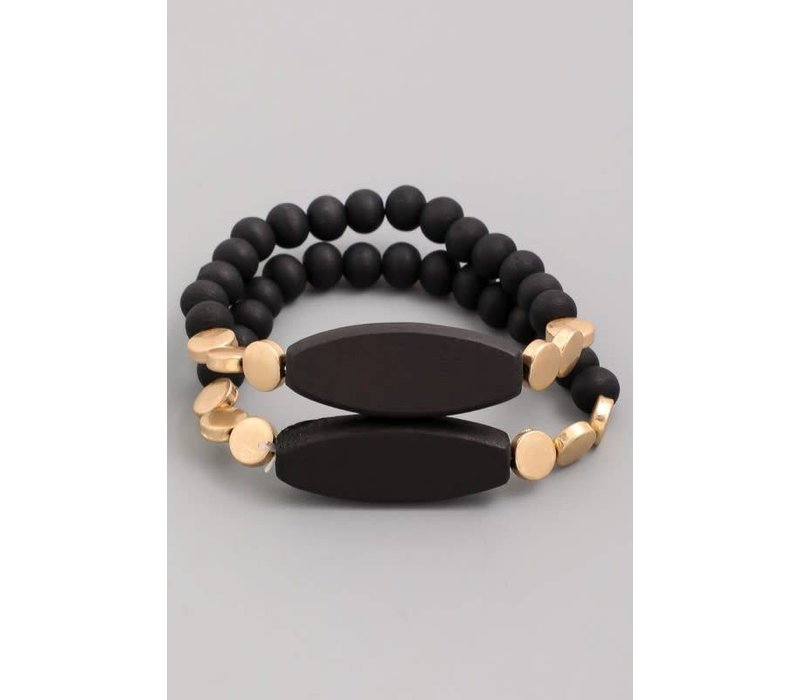 Black + Gold Modern Bracelet