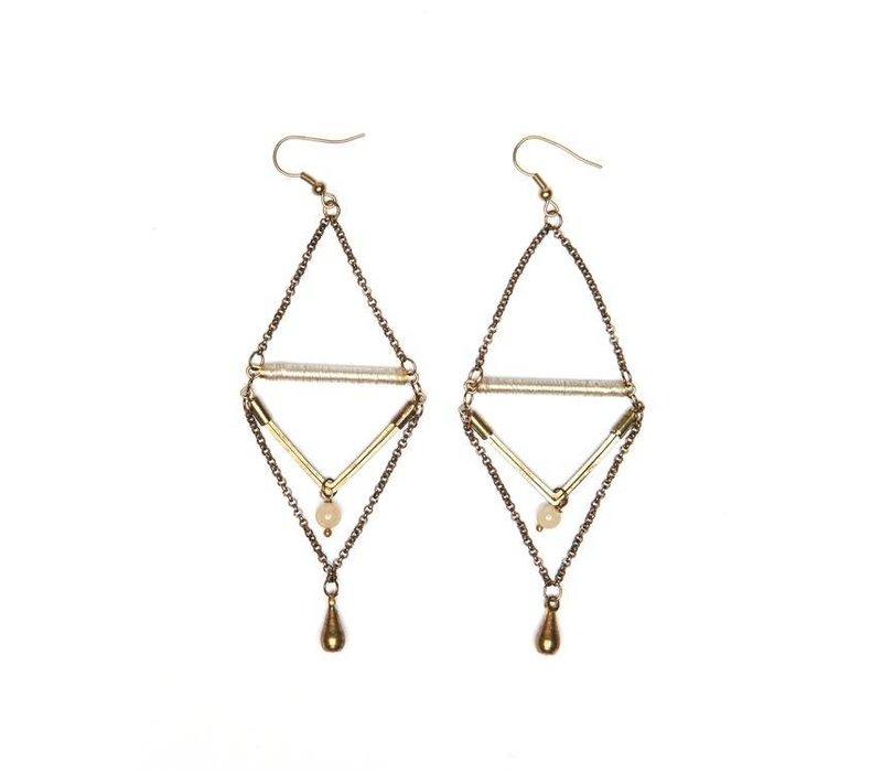 Handcrafted Double Drop Boho Earrings