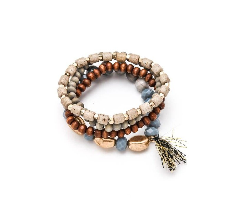 Sand Stone & Sky Bracelet Stack