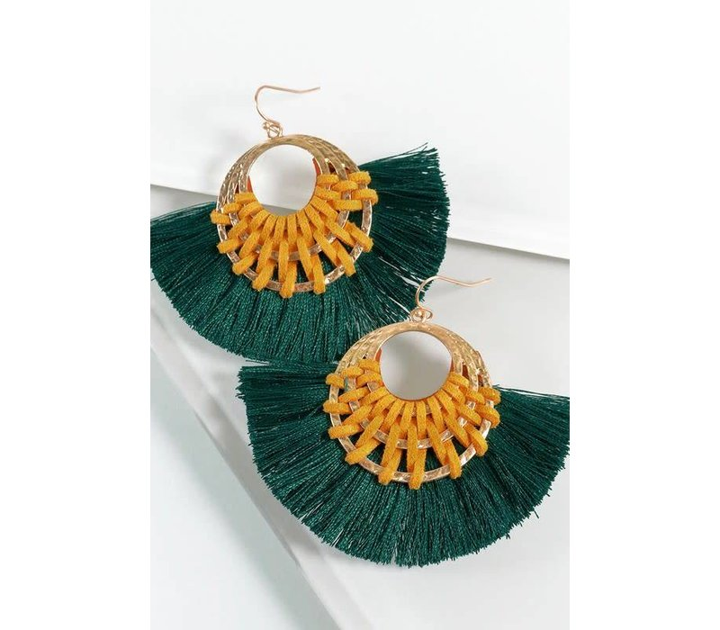 Emerald Coast Fan Earrings