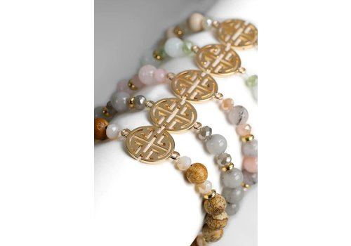 Filigree Stone Bracelet