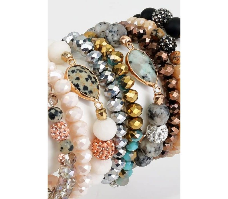 Crystal & Stone Bracelet Stacks