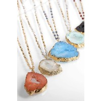 Layered Druzy Necklace