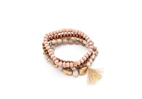 Pink Sunset Bracelet Stack