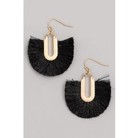 Tassel Fan Earrings (4 Colors)