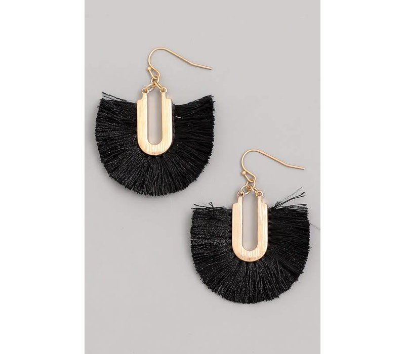 Tassel Fan Earrings (4 Colors)