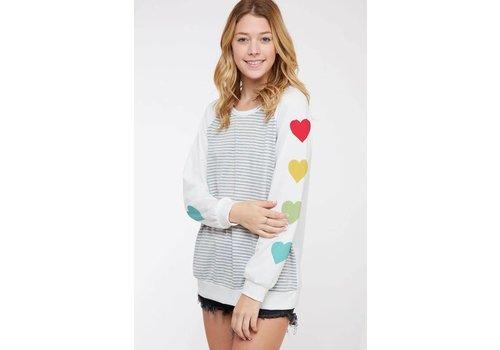Rainbow Heart Sleeve Top