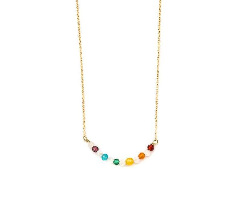 Dainty Rainbow Crystal Necklace