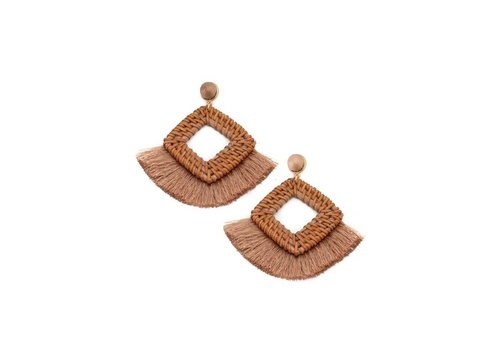 Straw Statement Fringe Earrings (2 Colors)
