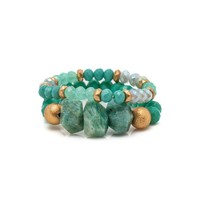 Cyrstal + Stone Bracelet Sets (3 Colors)
