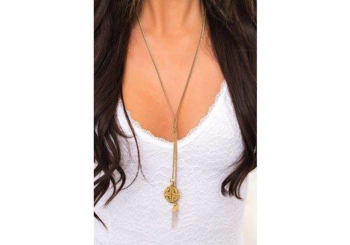 Boho Double Strand Y-Drop Necklace