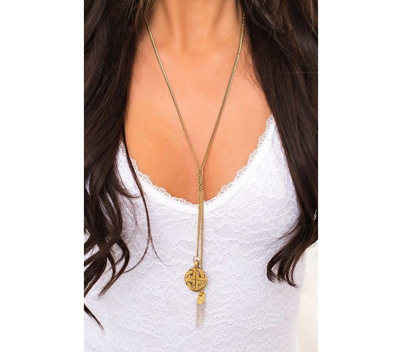 Boho Double Strand Y-Drop Necklace