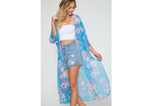 Maui Blue Kimono