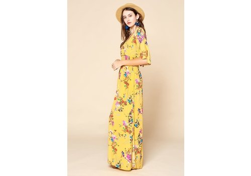 Sunshine Floral Maxi Dress (XL-3X)