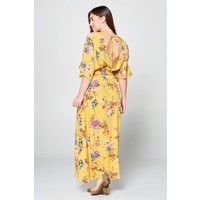 Sunshine Floral Maxi Dress (XL-3X)