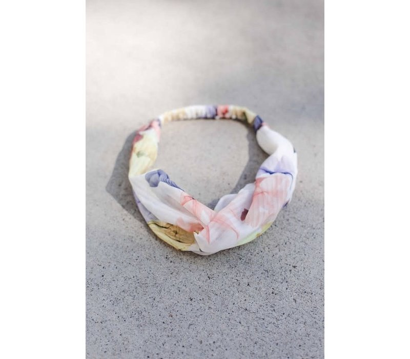 Sheer Stripe & Floral Turban Headband