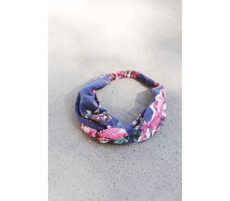 Navy Floral Turban