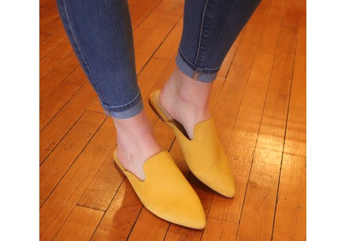 Mustard Mule Slides