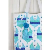 Woven Turquoise Mosaic Boho Bag