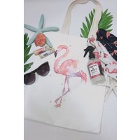 Watercolor Flamingo Tote Bag