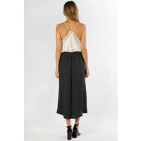 Bohemian Collect Black & White Polka Dot Cropped Pants