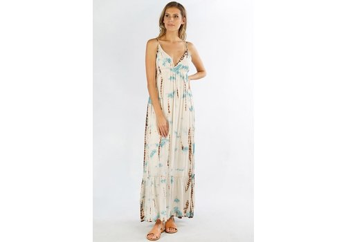 Bohemian Beach- Hand Tie Dye Maxi Dress