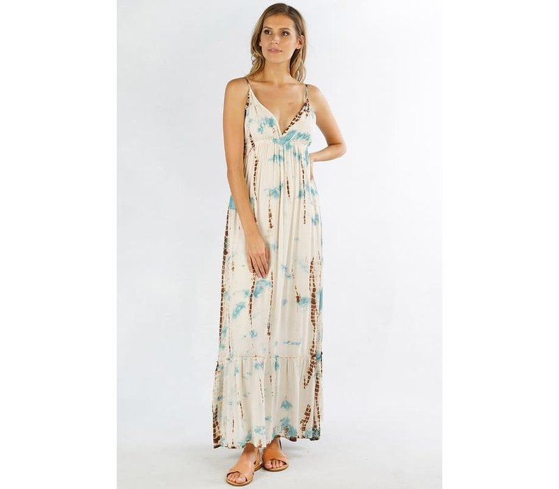 Bohemian Beach- Hand Tie Dye Maxi Dress