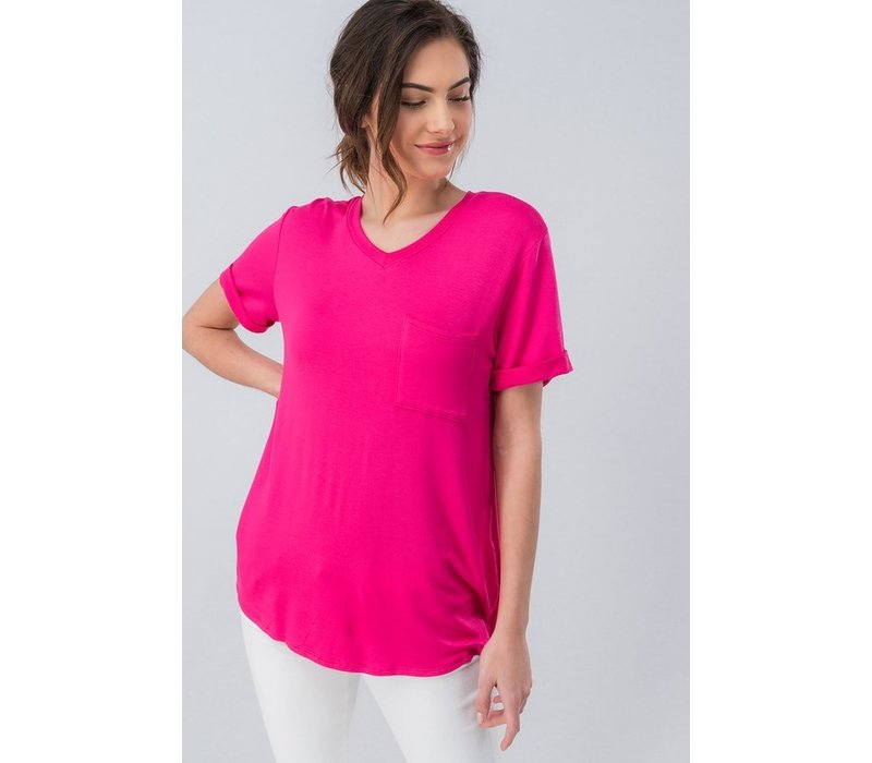 Pink French Terry Tee
