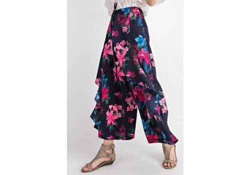 Navy Tropic Tulip Pants