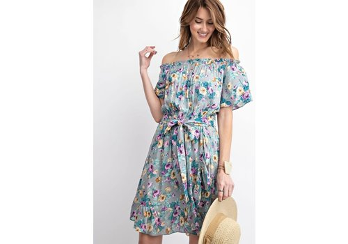 Off Shoulder Spring Meadow Dress