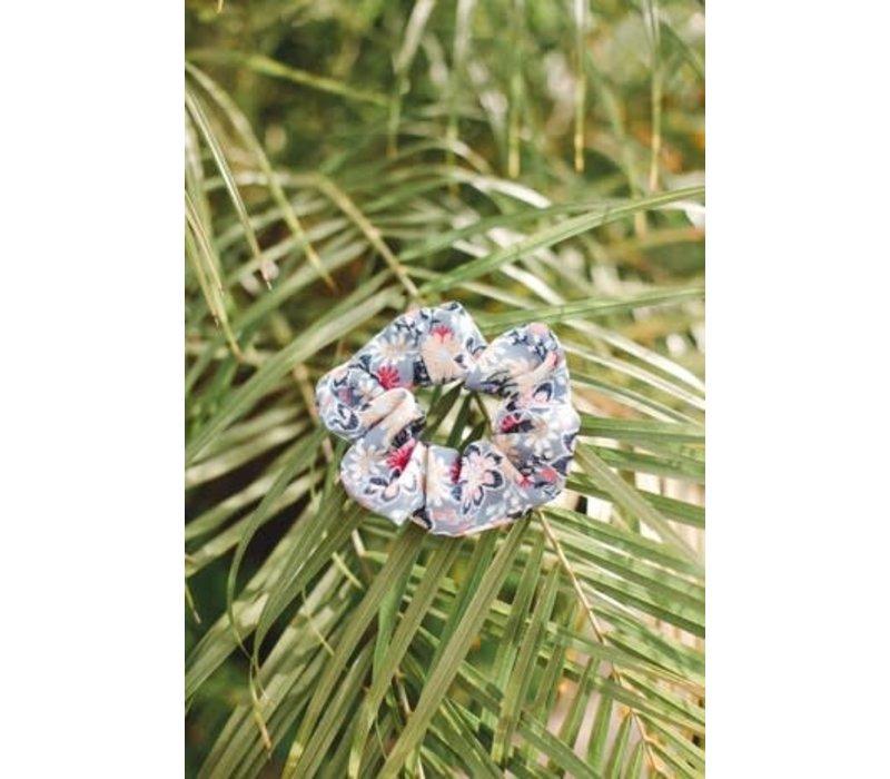 Blue Garden Scrunchie