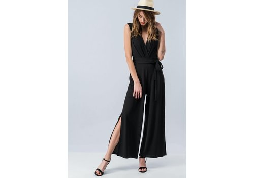Black Split Leg Jumpsuit