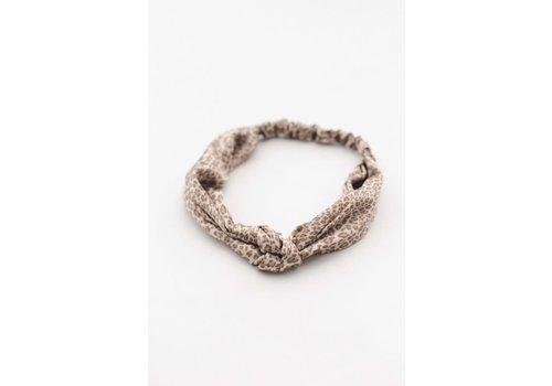 Satin Leopard Turban Headband