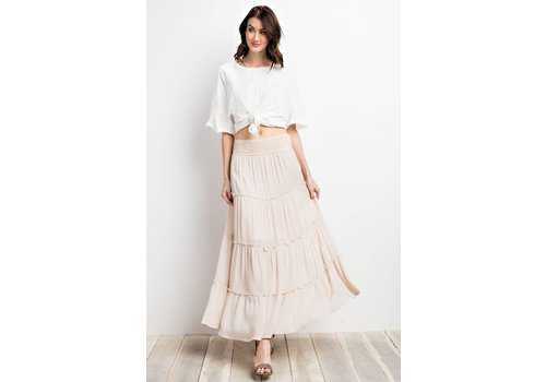 Bohemian Collect  Tiered Maxi Skirt