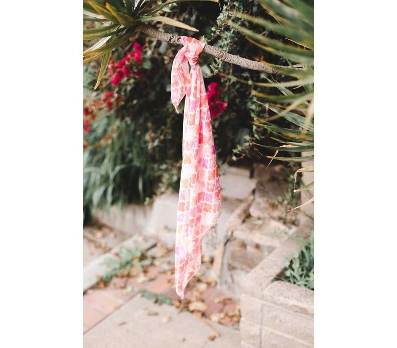 Orange & Pink Morocco Hair Scarf