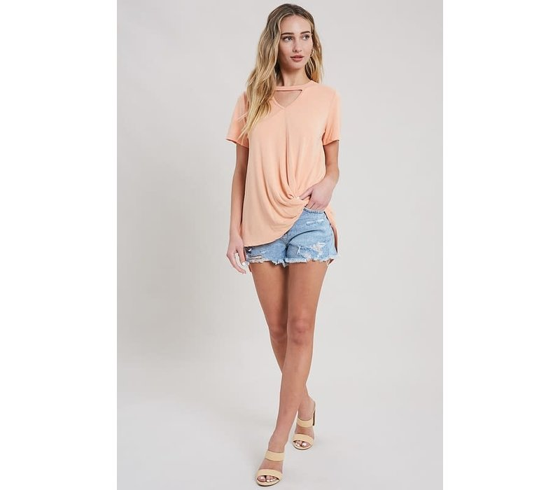 Apricot Front Twist Top