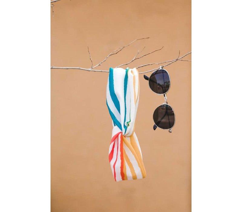 Summer Rainbow Stripe  Turban