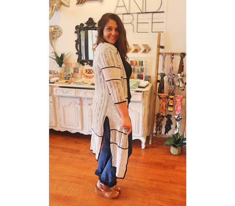 Modern Black & White Kimono