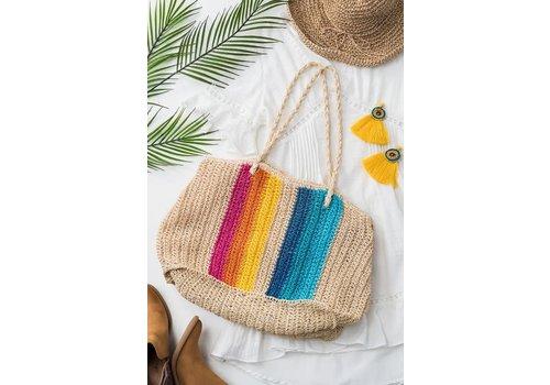 Rainbow Rattan Bag